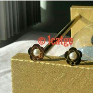 Chanel New Flower Gold Earrings